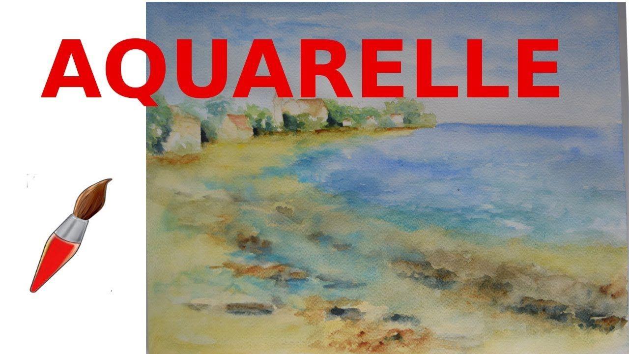 Peignons La Mer Sous Le Soleil A L Aquarelle Youtube Aquarelle