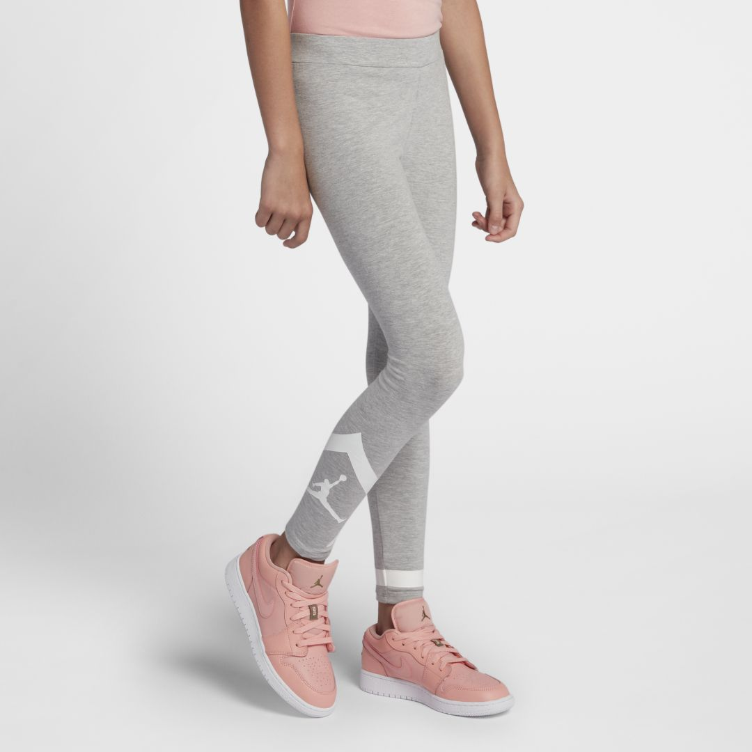 ccb7eaf32cb1c4 Jordan Diamond Big Kids  (Girls ) Leggings Size XL (Grey Heather ...
