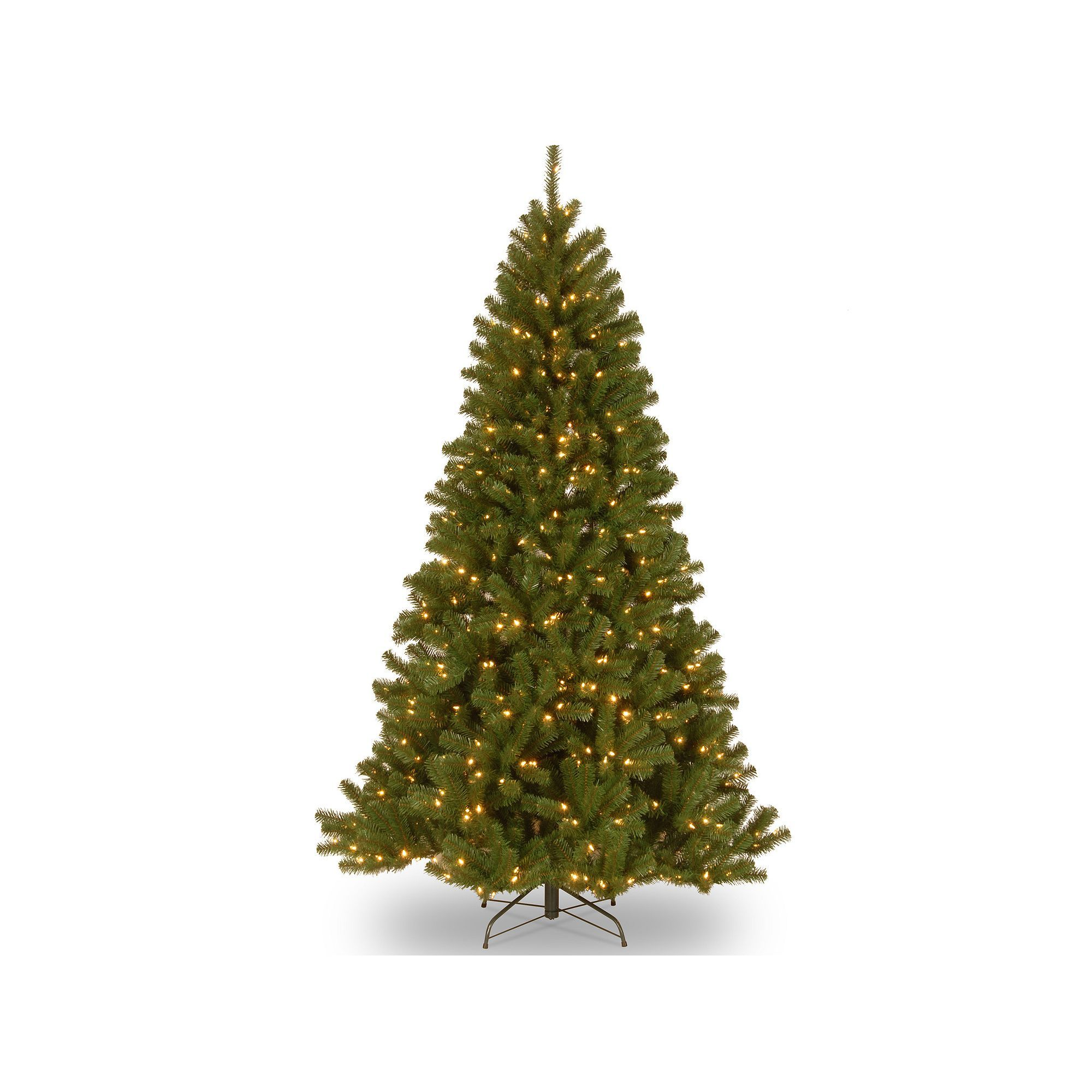 7.5-ft. Pre-Lit Dual LED North Valley Spruce Artificial Christmas ...