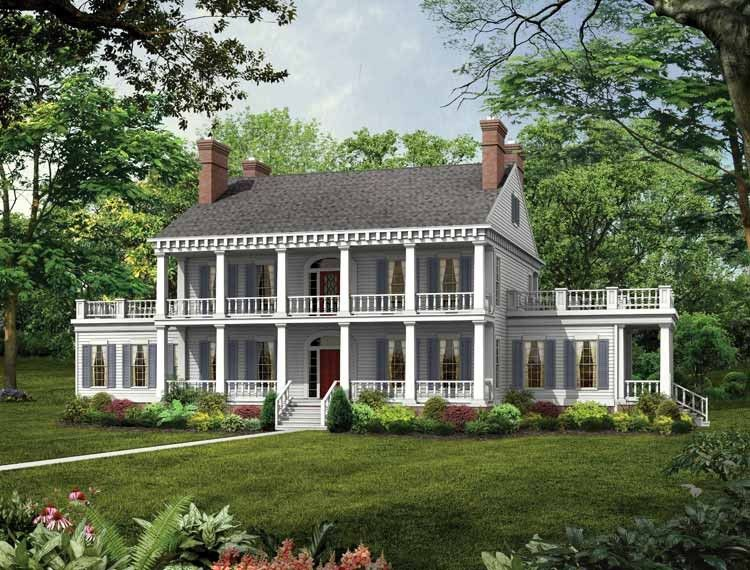 plantation house plan with 3833 square feet and 3 bedrooms from dream home source house southern house planssouthern style - Southern Style Houses