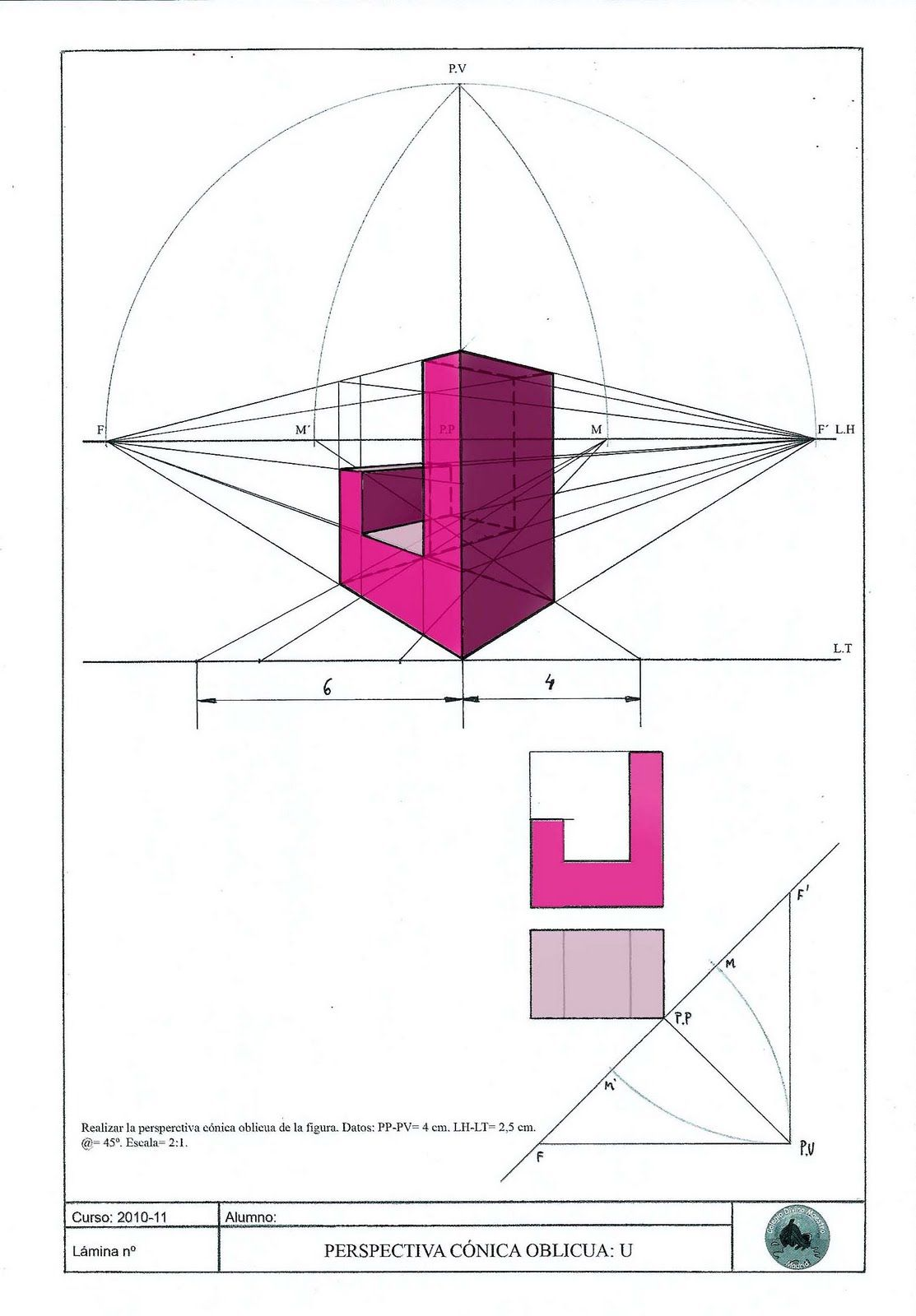 Paso 9 Jpg 1113 1600 Geometria Descriptiva Tecnicas De Dibujo Cubos Geometria