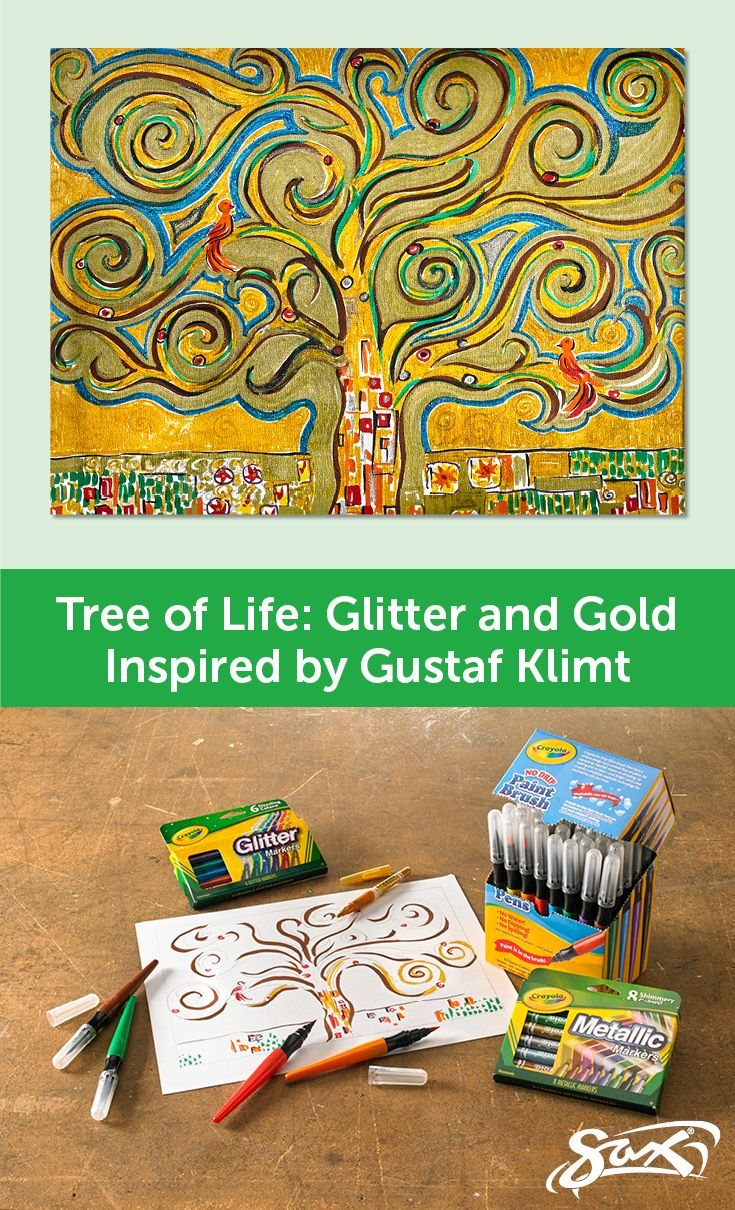 Examine the work of Gustaf Klimt studying his use of color, shape ...