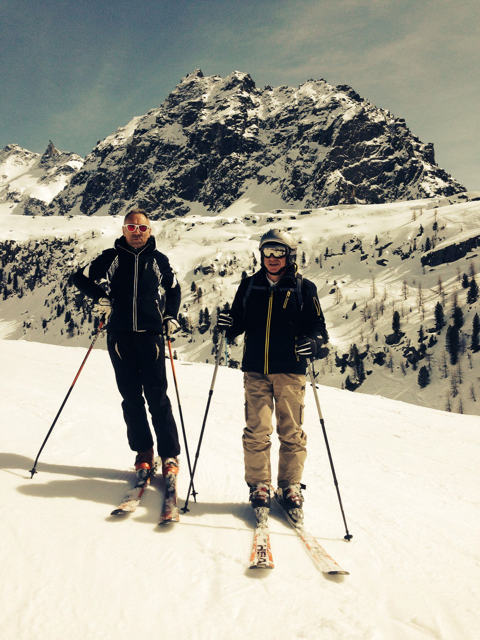 Skiing on Monte Rosa