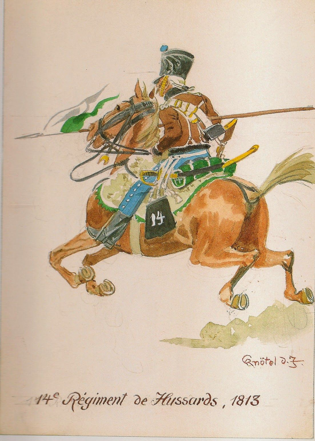 French; 14th Hussars, 1813