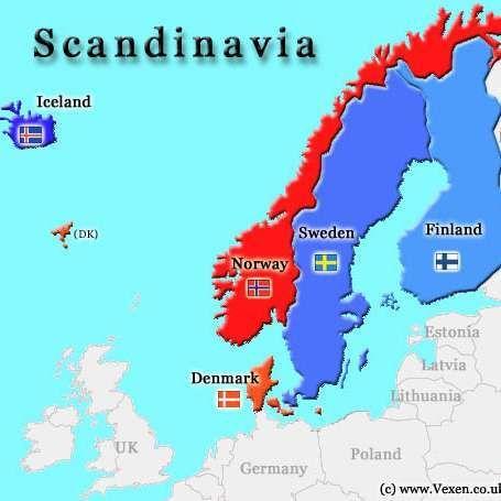 Countries In Scandinavia Norway Sweden Finland Scandinavia Norway