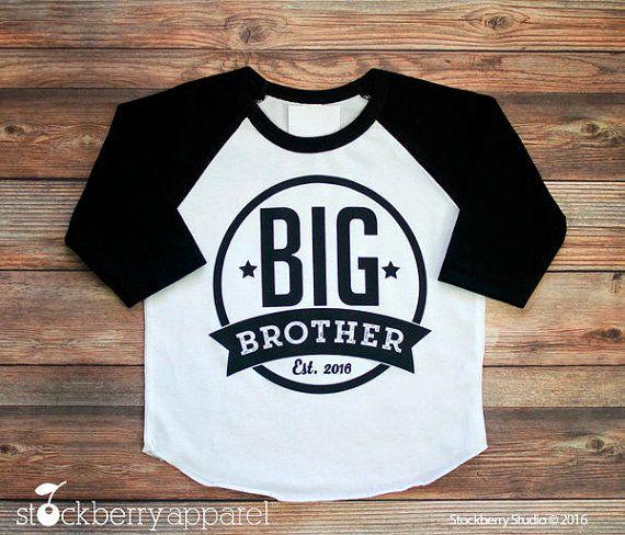 fd2d64efc07 Big Brother Shirt - Big Brother Raglan Shirt - Personalized Big ...
