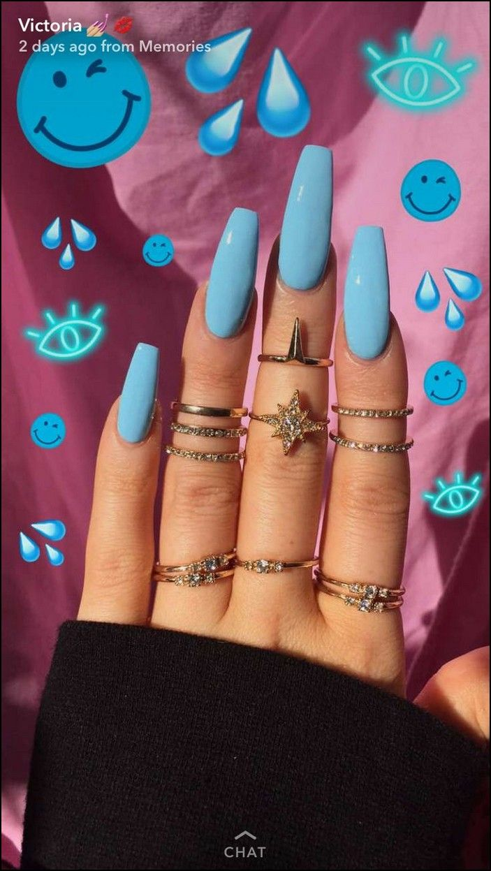Top 140+ coffin nails ideas for this summer 2019 page 1 is part of Blue Pastel nails Dyes - Top 140+ coffin nails ideas for this summer 2019 page 1 Related