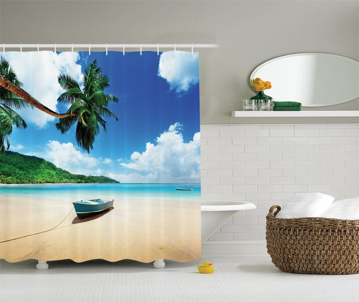 Beach Shower Curtains Discover The Best Themed And Coastal To Complete Your Bathroom Decor