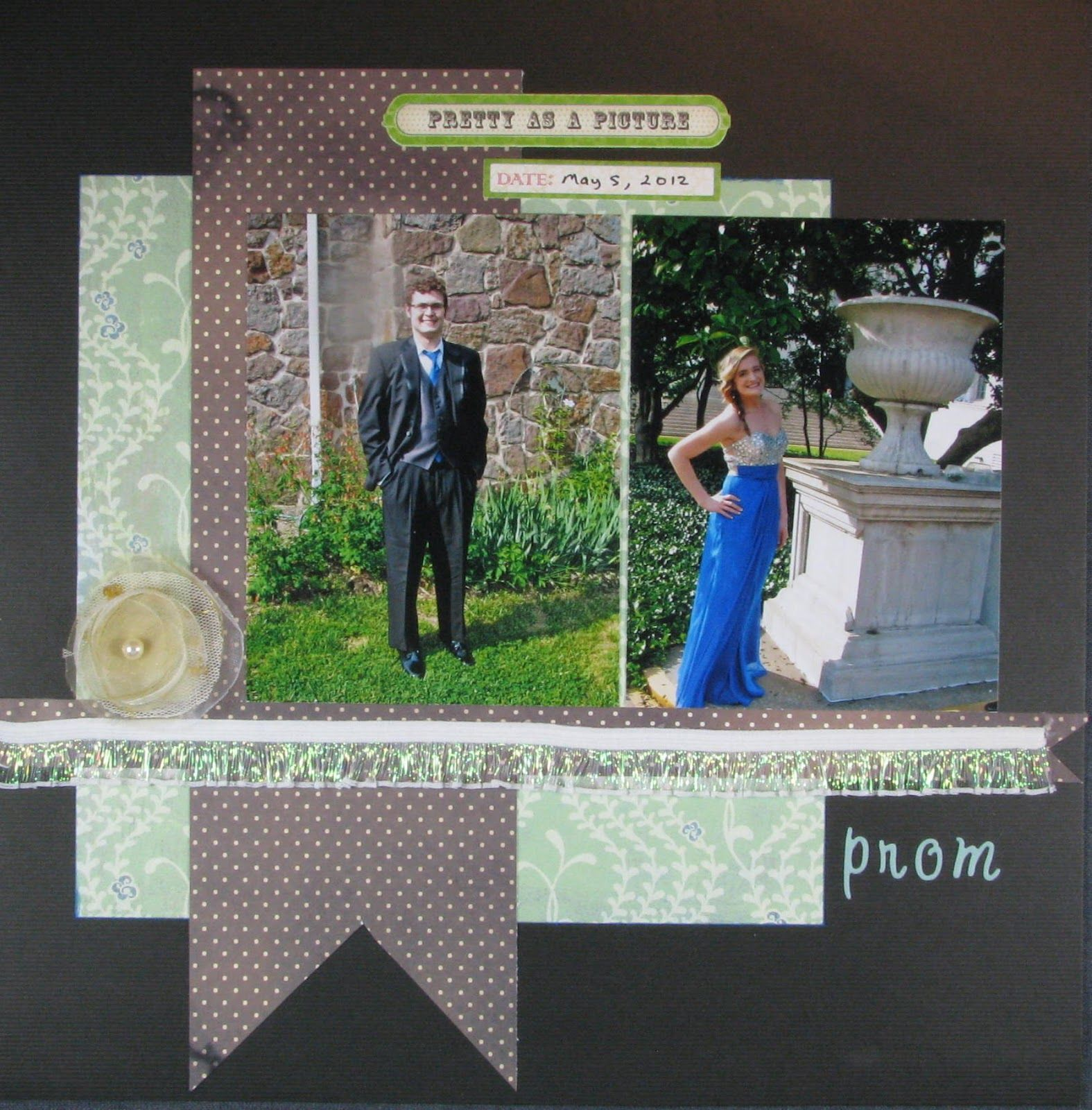 Scrapbook ideas many pictures - Prom Layouts For Scrapbooking Prom 2012 The First Page Of Many