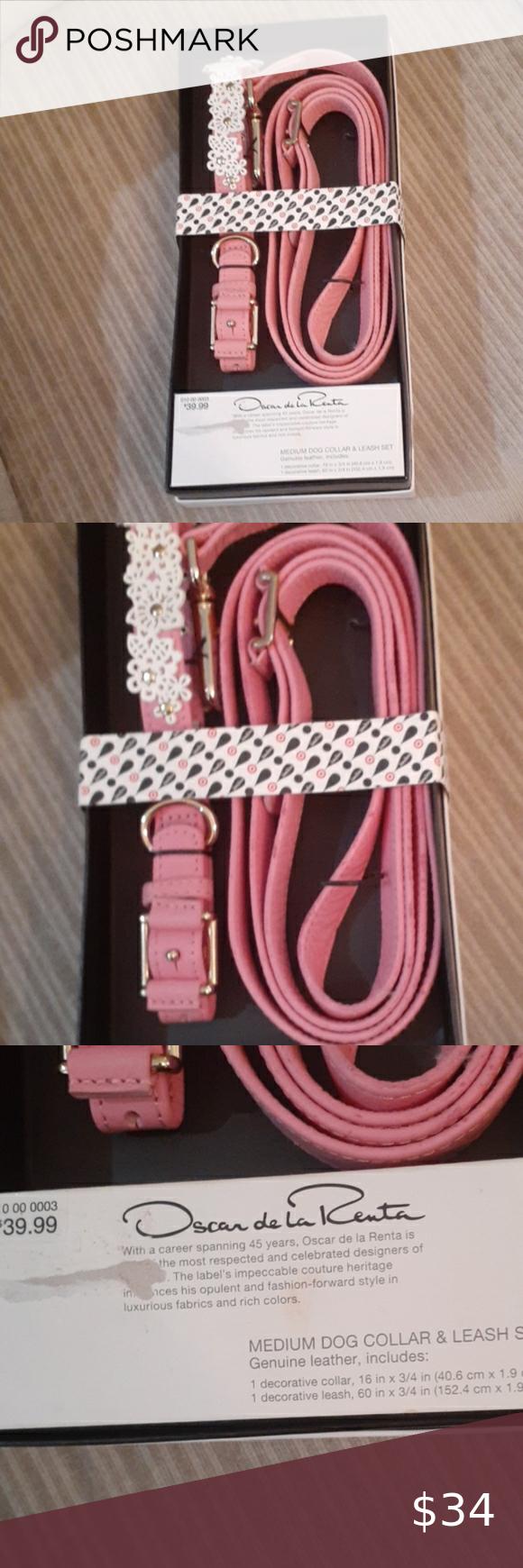Oscar De La Renta Dog Collar And Leash Set Collar And Leash Oscar De La Renta Dog Collar