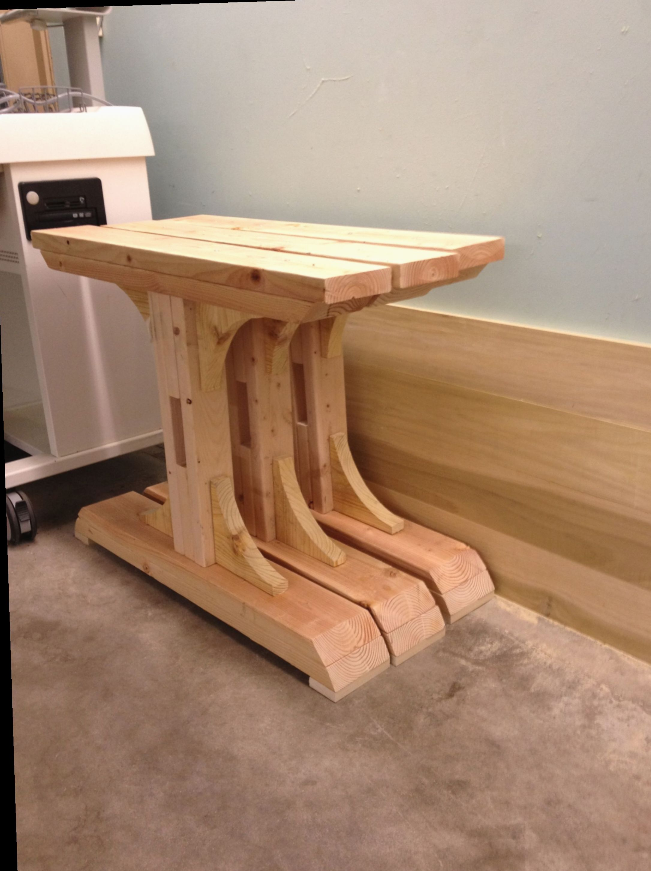 Diy table legs homemade sustainabilityhouse camping