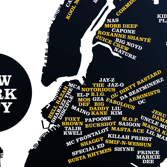 TopatoCo New York City Area Rappers Map CARTography Pinterest - Rap of the map of the us