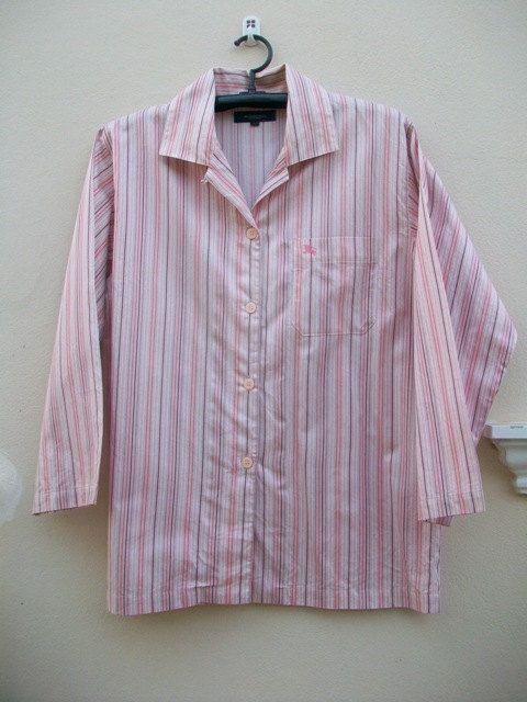 Vintage Mens Burberry London Sleepwear shirt Pajamas - pinned by pin4etsy.com