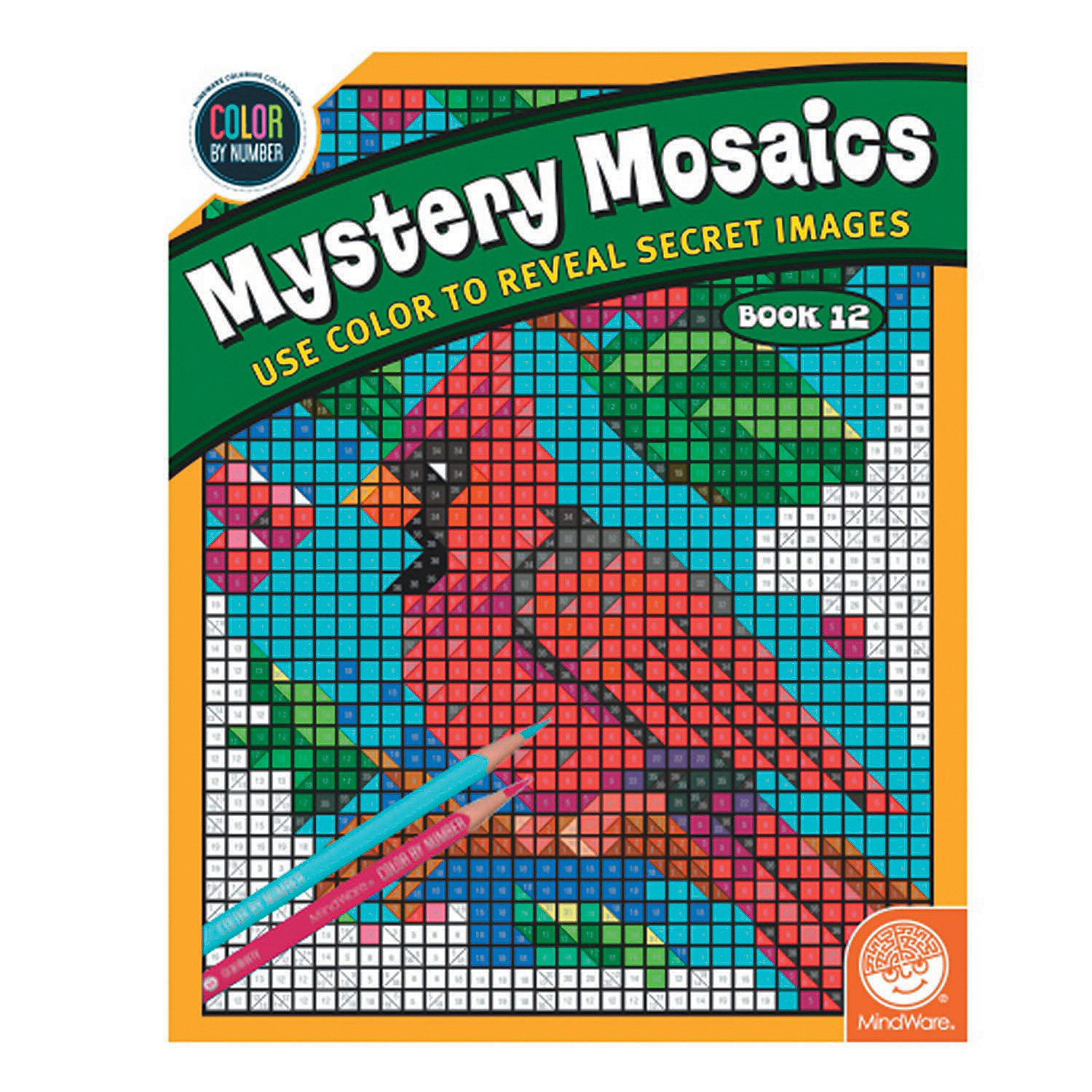Color By Number Mystery Mosaics Book 12 Mindware Mosaic Books Coloring Books Words Coloring Book