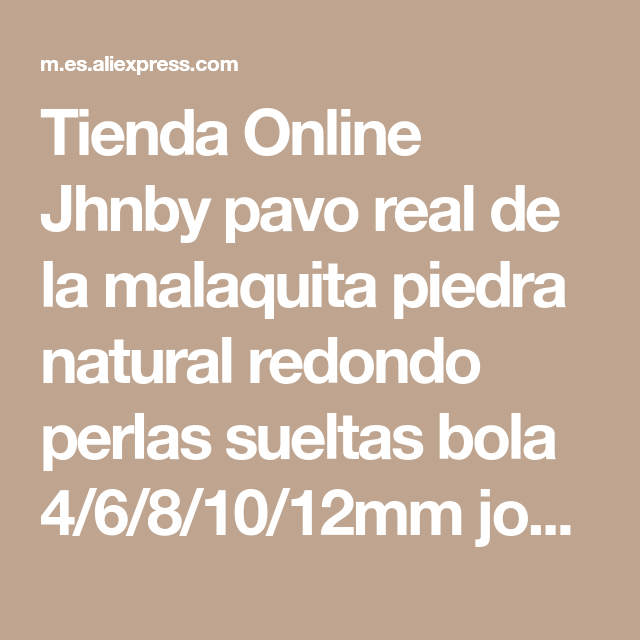 3aff6c8bf6e9 Tienda Online Jhnby pavo real de la malaquita piedra natural redondo ...