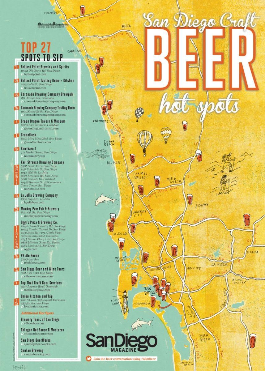 San Diego Beer Map San Diego Craft Beer Hot Spots | Beer Glorious Beer | San diego