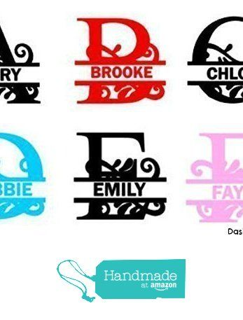 Custom Personalized Monogram Wall Decal Last Name Home Decor - Custom vinyl decals for cups