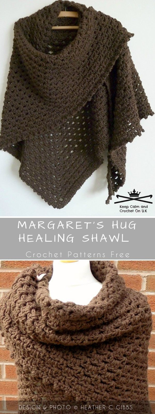 Margaret's Hug Healing Crochet Shawl with Free Pattern