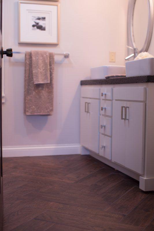 DIY Concrete Countertops In A Beautiful Master Bathroom Renovation