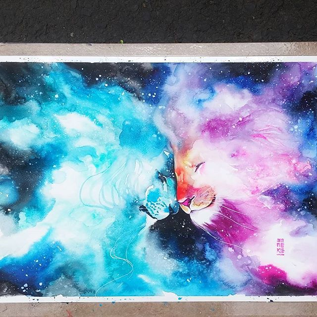 Galactica Watercolours On Canson Montval Size 29 7x42 0 Cm 300gsm