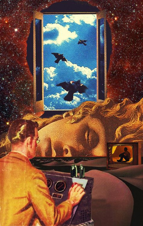 The Freedom Insurance Surreal Mixed Media Collage Art By Ayham