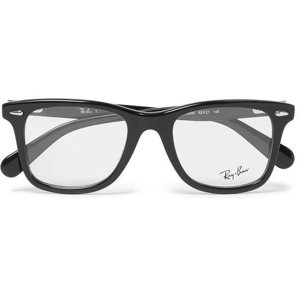 faf10310b401d Ray-Ban D-Frame Acetate Optical Glasses ( 190) ❤ liked on Polyvore  featuring men s fashion