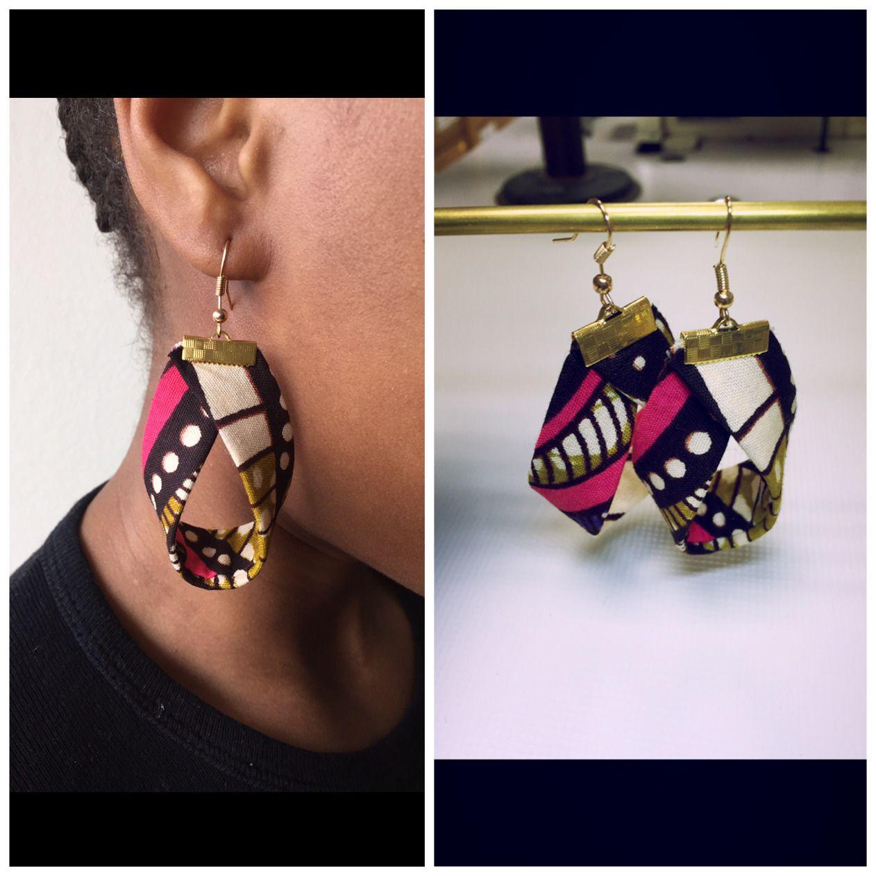 boucle d 39 oreille tissus boucleafrica bijoux pinterest oreilles boucles et accessoires. Black Bedroom Furniture Sets. Home Design Ideas