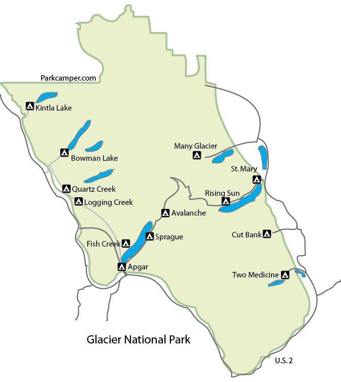 Glacier National Park Camping National Park Explorer Pinterest