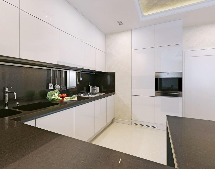 17 Small Kitchen Design Ideas. Black White ...
