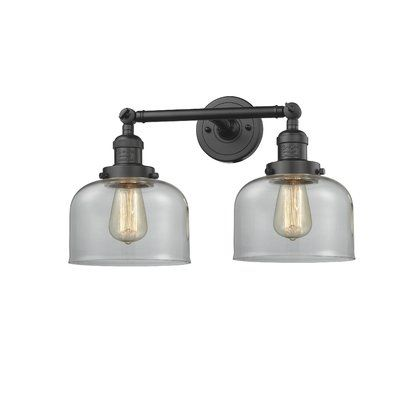 Photo of Beachcrest Home Lythragkomi 2-Light Dimmable Armed Sconce | Birch Lane