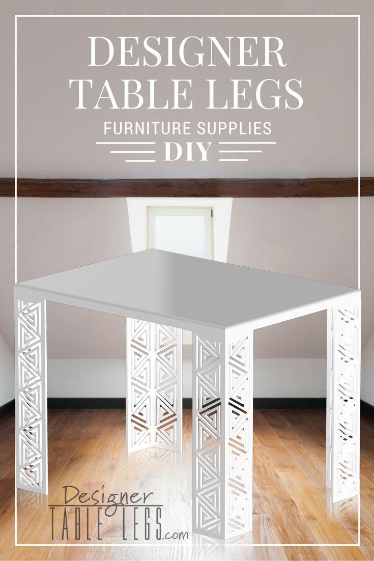 DesignerTableLegs.com   White Pharaoh Spiral Table Legs   DIY Furniture  Ikea Hacks