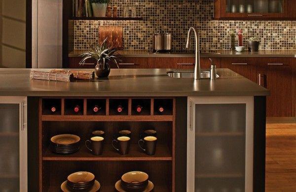 Kücheninsel gestalten fliesen küchenrückwand mosaik kitchen - fliesen für küchenwand