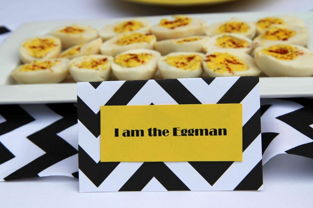 Another standard dish at any Bealtes party -- I am the Eggman deviled eggs. The ZomBeatles -- A Hard Day's Night of the Living or Walking Dead! Halloween Party Decorations & Ideas