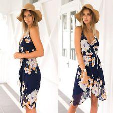 Women Sexy Summer Casual Floral Sleeveless Evening Party Beach Short Mini Dress #dresses #fashion #style #women #trend