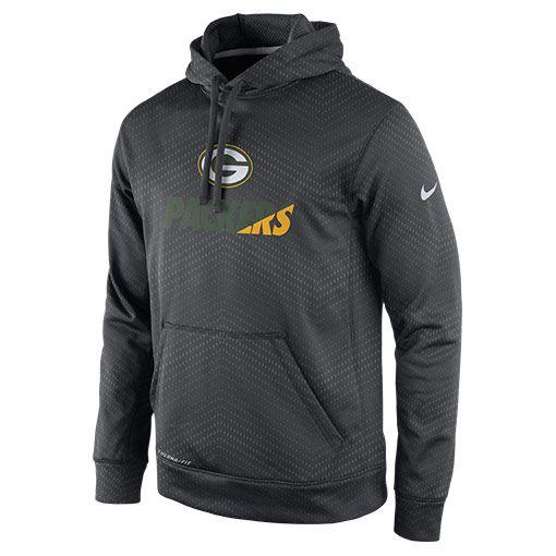 Men s Nike Green Bay Packers NFL KO Pullover Hoodie - 654705 060  b5a56326d8be