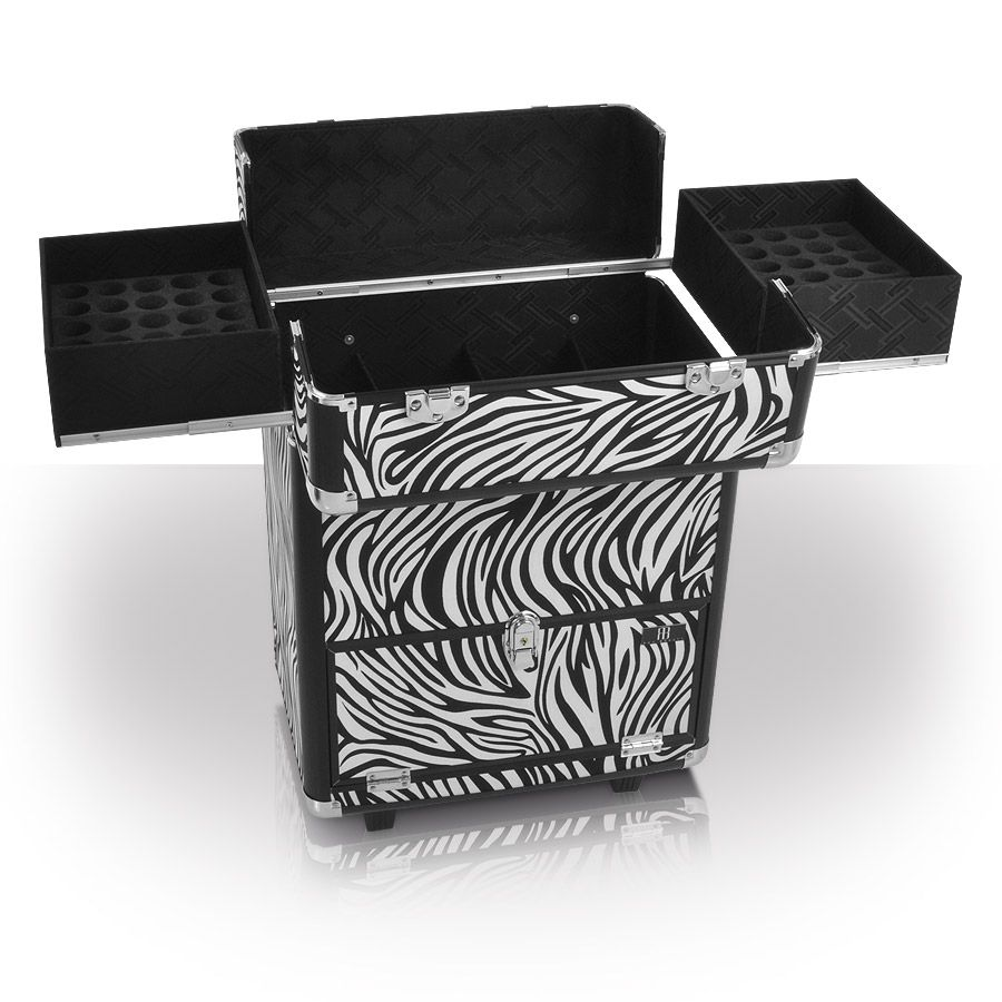 Monsoon zebra beauty trolley, beauty equipment, makeup