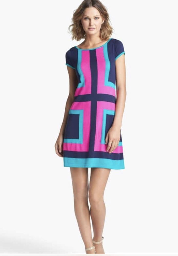 168 LILLY PULITZER Isabella Sweater Color Block Dress  fashion  clothing   shoes  accessories  womensclothing  dresses (ebay link) b5f3b1a75
