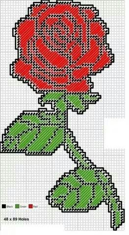 Rose Wall Hanging Plastic Canvas Crafts Plastic Canvas