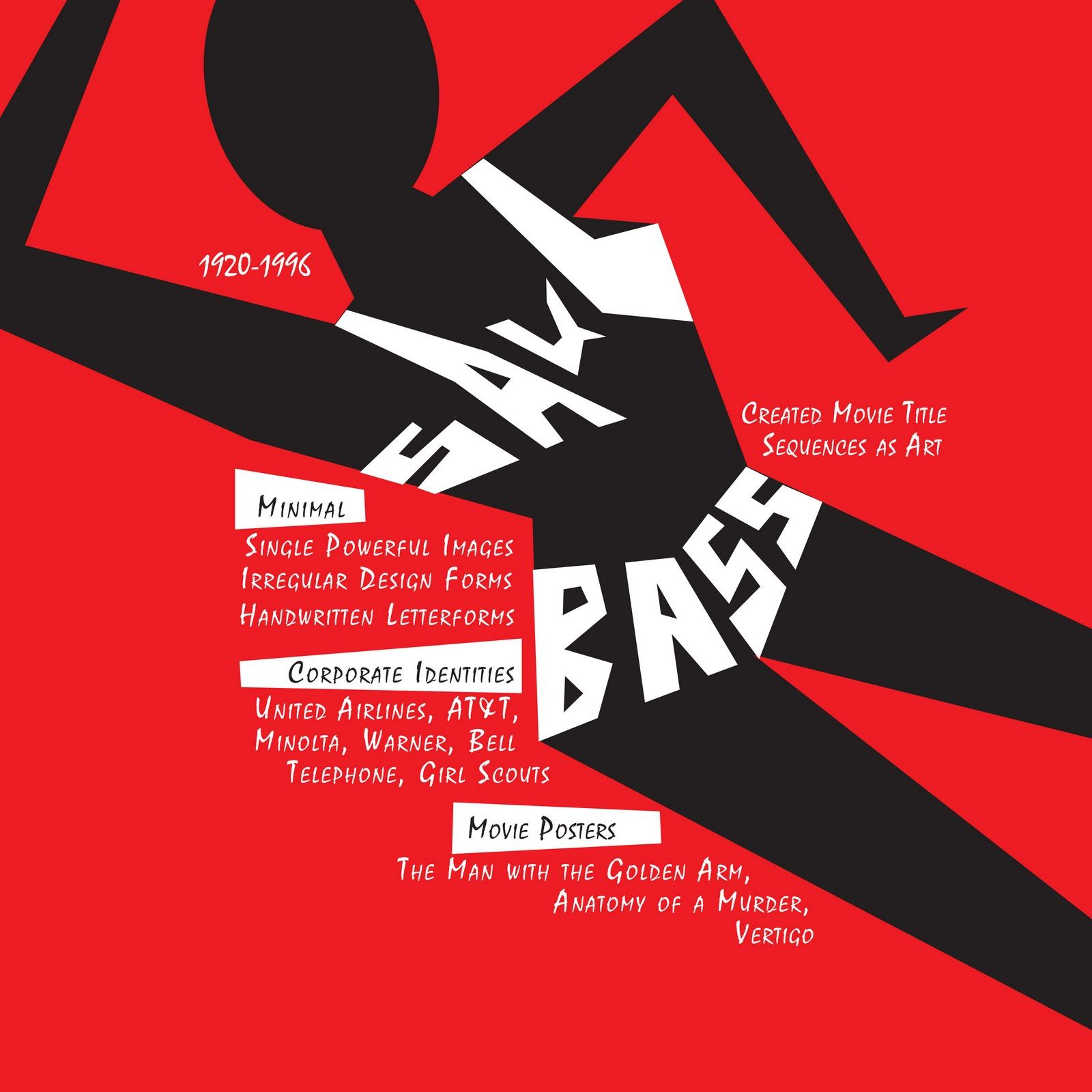 Poster design typography - Saul Bass Poster