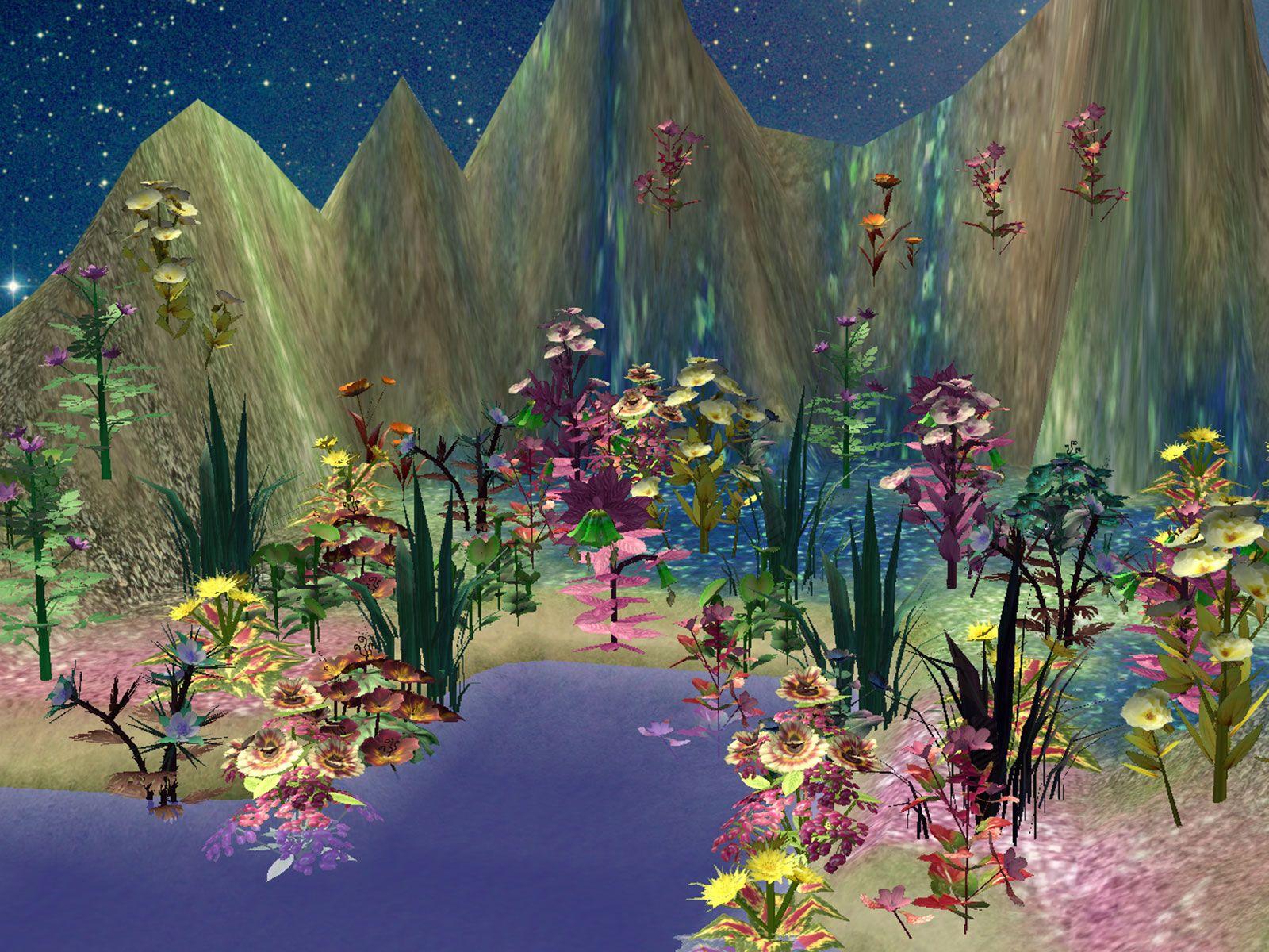 pin  lesia hamilton   sims  garden