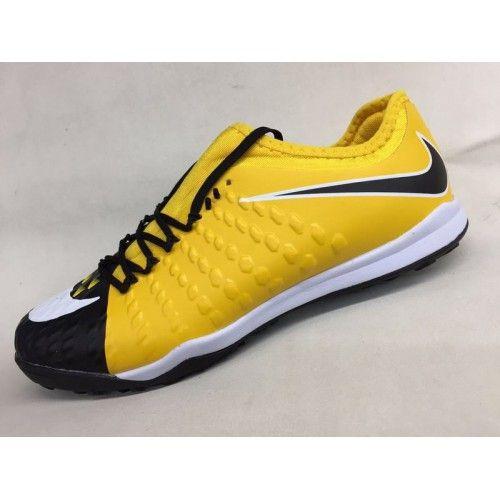 100% authentic 961ed df635 Barato 2017 Nike Hypervenom Phantom III DF TF Amarillo Negro Blanco Botas De  Futbol