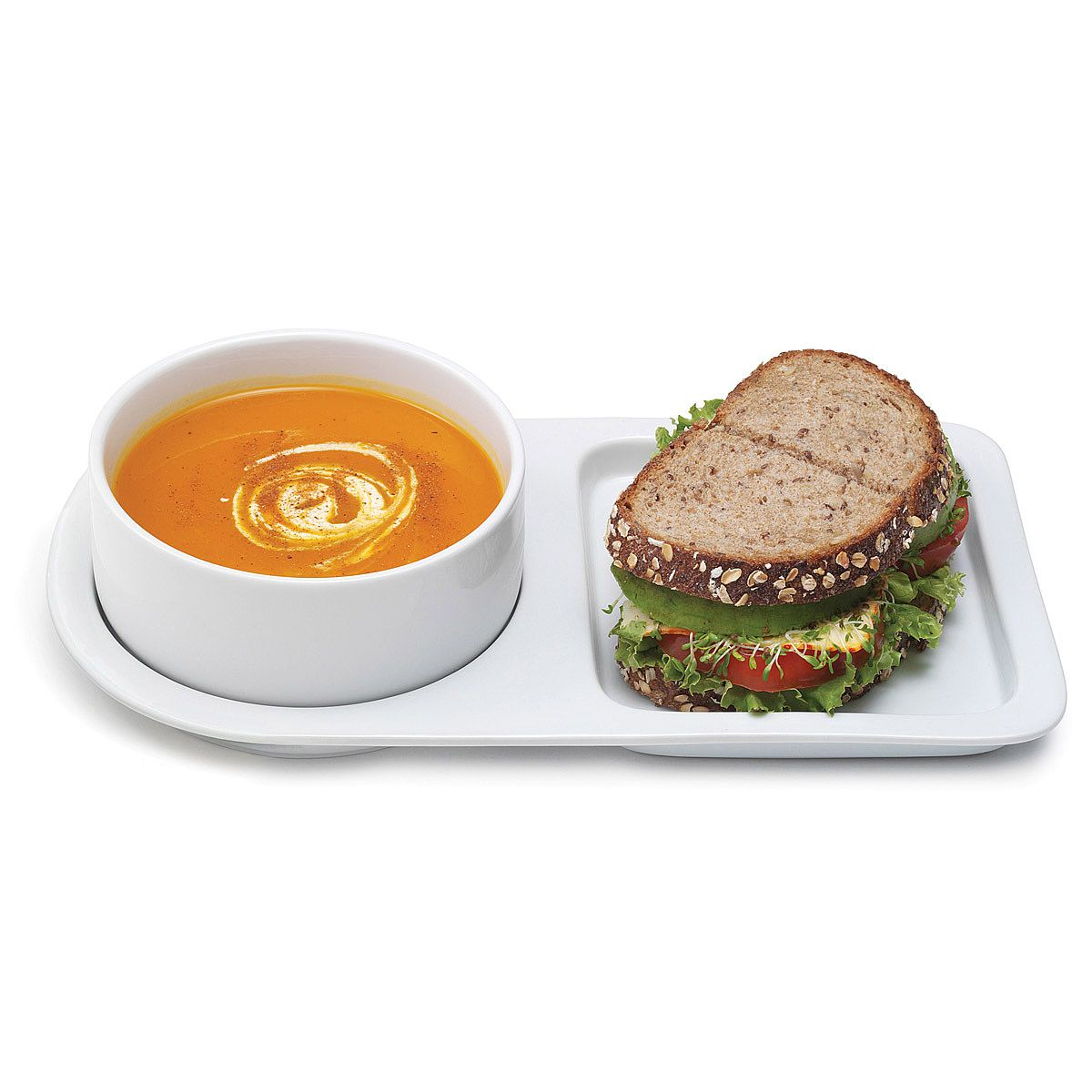 This ceramic tray is perfectly sized for soup and sandwich. Includes set of two bowls and trays. Also great for breakfast and dessert.  sc 1 st  Pinterest & Soup And Sandwich Ceramic Tray Duo | Trays Bowls and Lofts