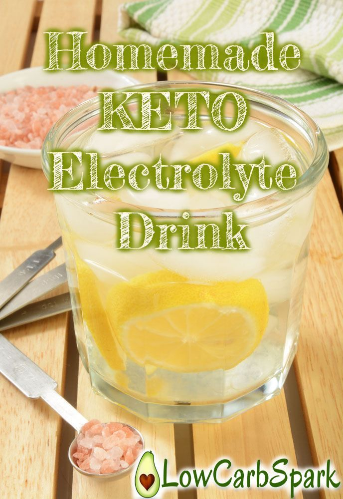 Sip on this cheap homemade electrolyte drink during the day and feel great again on a low carb diet.
