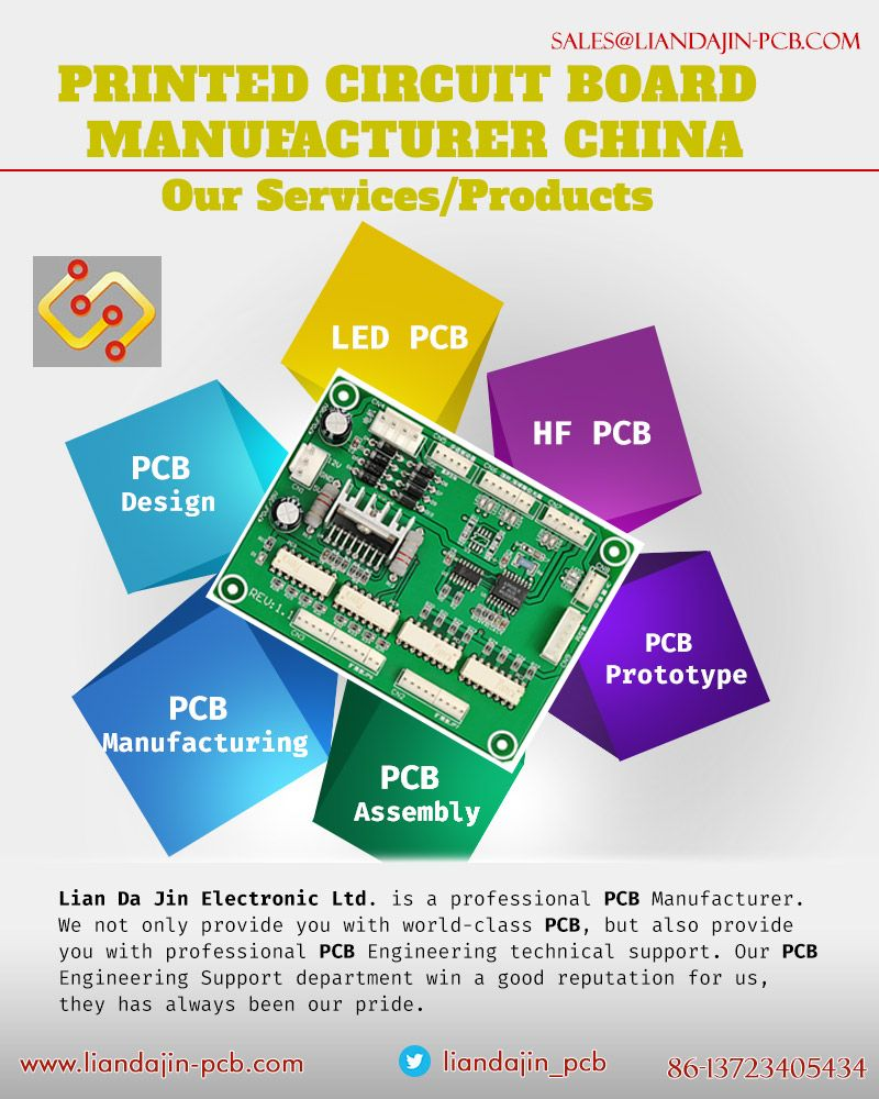 Lian Da Jin Electronic Ltd  is the one stop services PCB