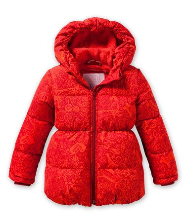 Loving this Red Circle Coat - Toddler & Girls on #zulily! #zulilyfinds