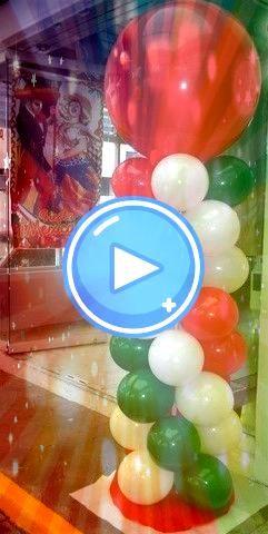 de Mayo or Fiesta Parties Custom Balloon Column  Cinco de Mayo or Fiesta Parties Custom Balloon Column   Balloon  Balloon Ideas Cierra con broche de oro la noche mexicana...
