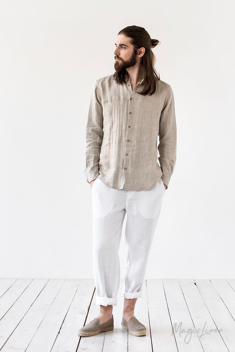 Discover our classy linen staples for men who calue style