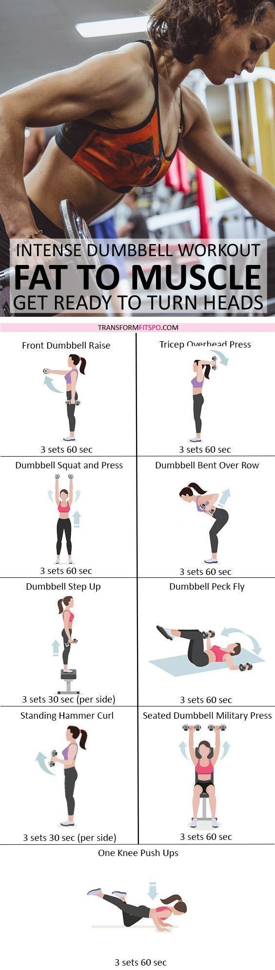 #rapidresults #dumbellforwomen #fattomuscle #womensfitness Turn your fat into mu... #dumbbellworkout