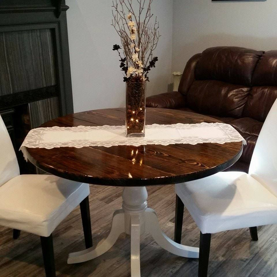 42 Inch Round Dining Table Handmade Pine Top Dining Table