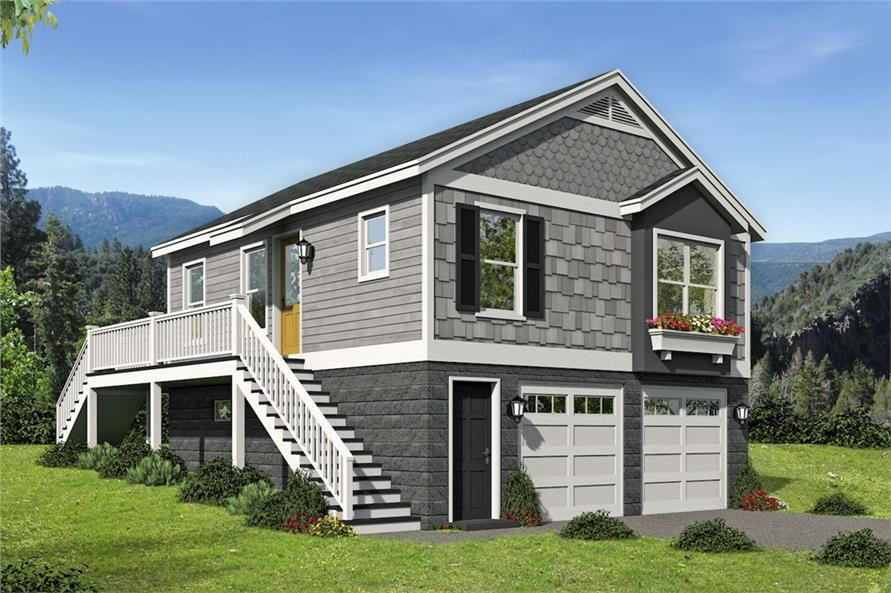Front elevation of Vacation Homes home ThePlanCollection